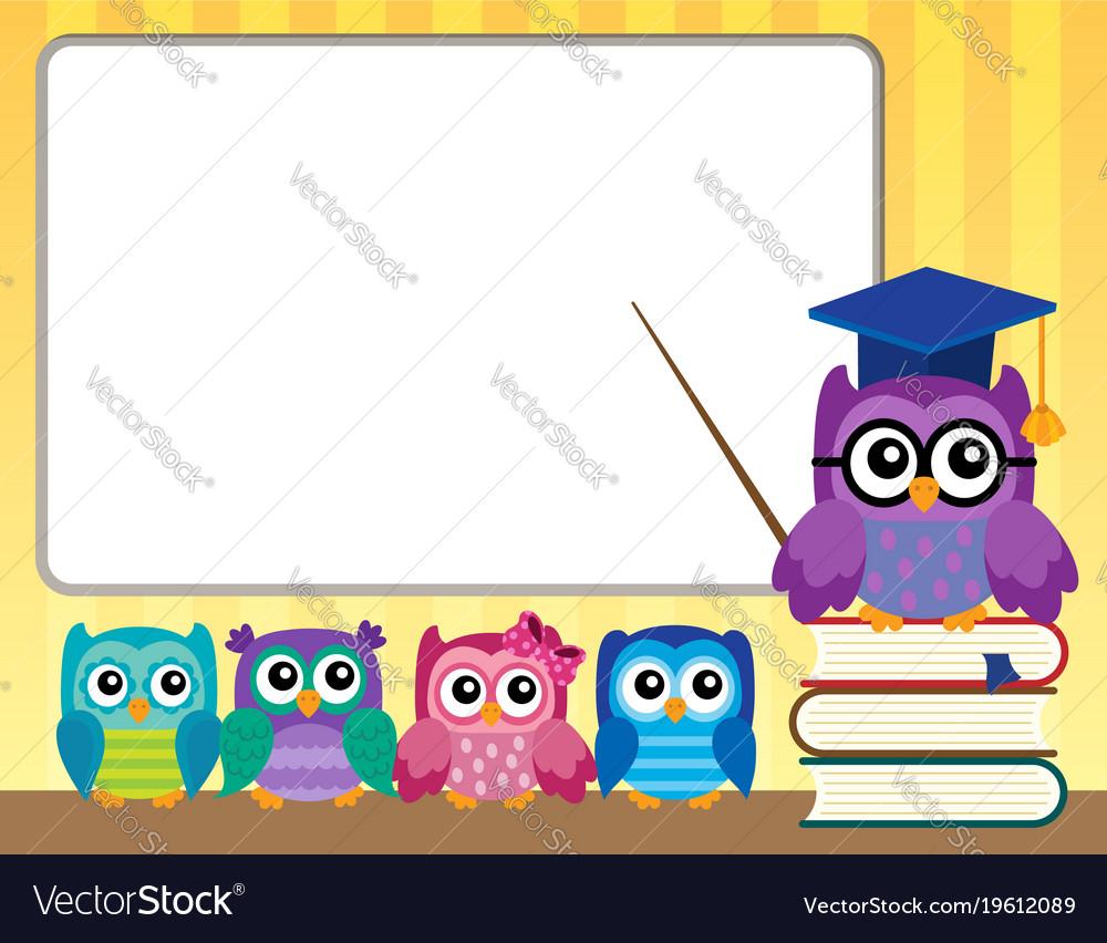 Owl teacher and owlets theme image 9