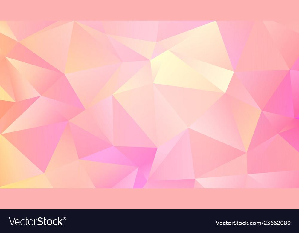 Trendy triangular design abstact pink quartz bg