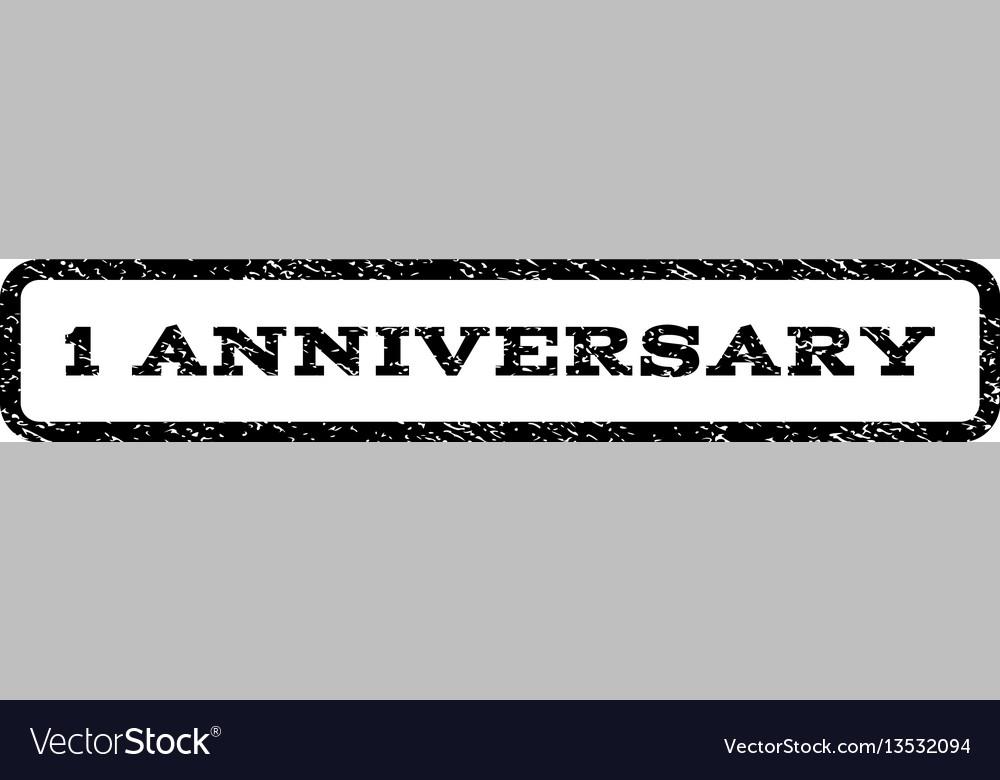 1 anniversary watermark stamp