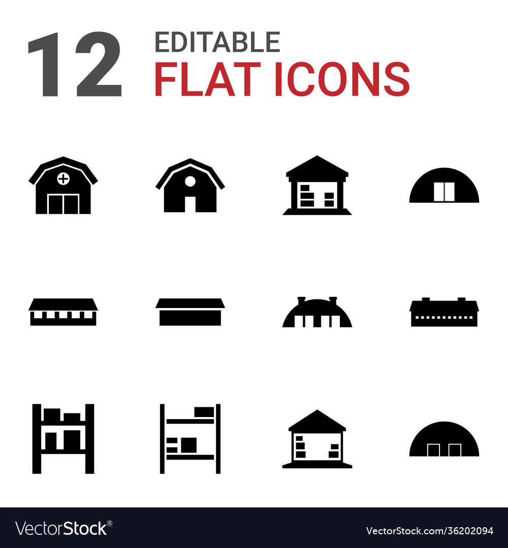 12 barn icons
