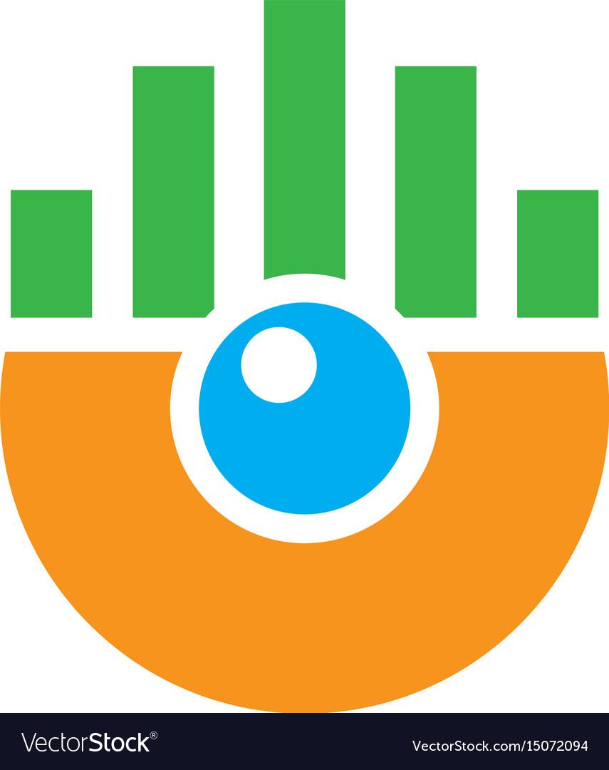 Abstract circle chart logo image