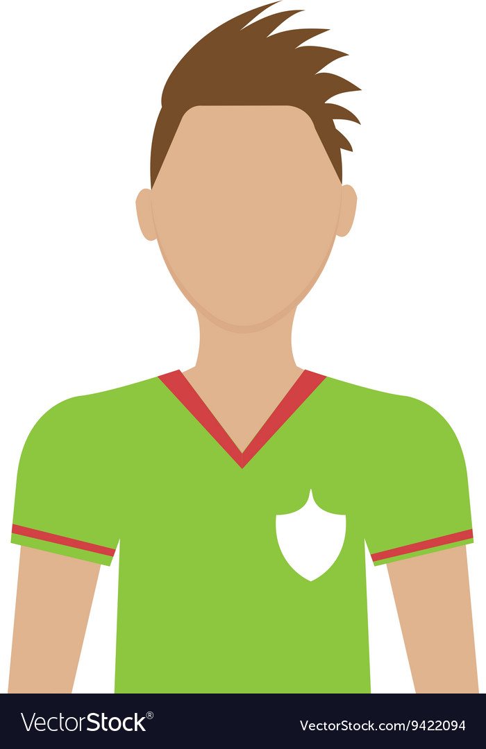 Avatar man soccer player graphic