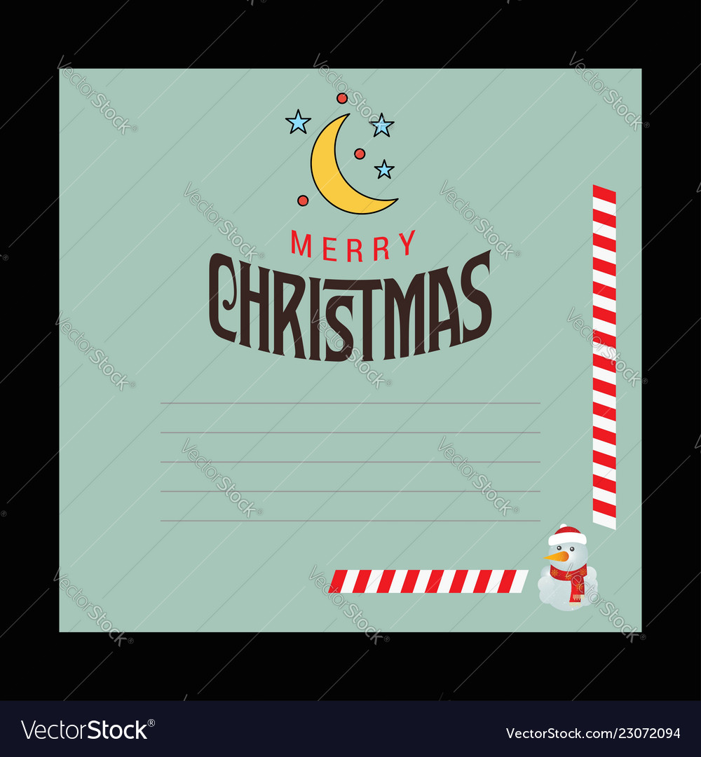 Christmas card design with elegant design with