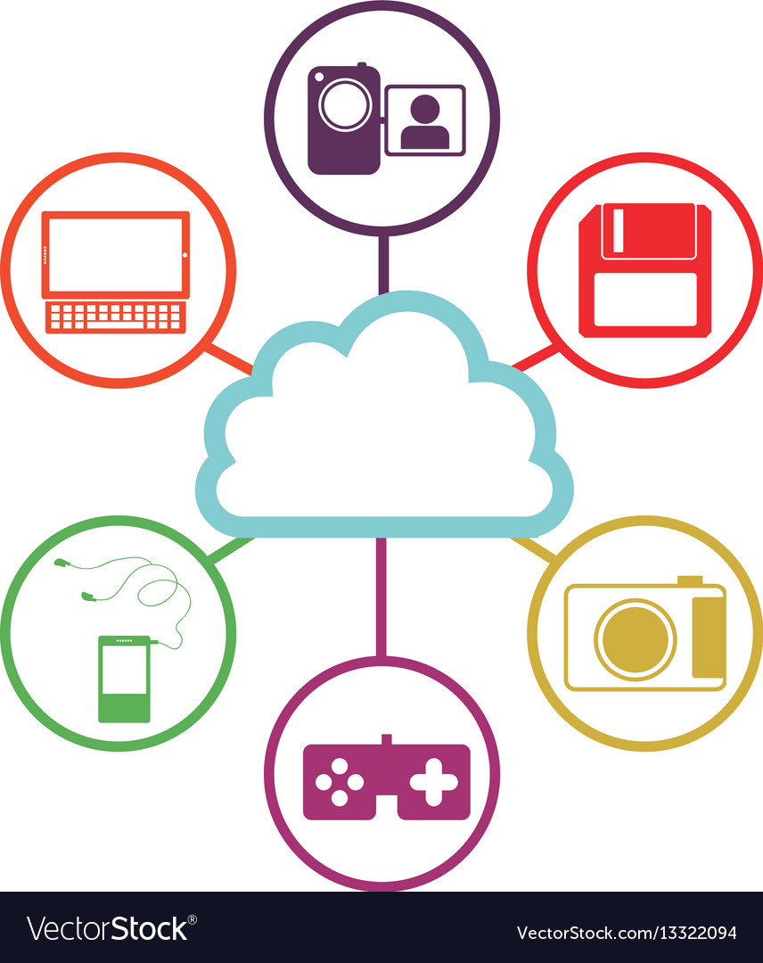 Database Hosting Icon Stock Royalty Free Vector Image