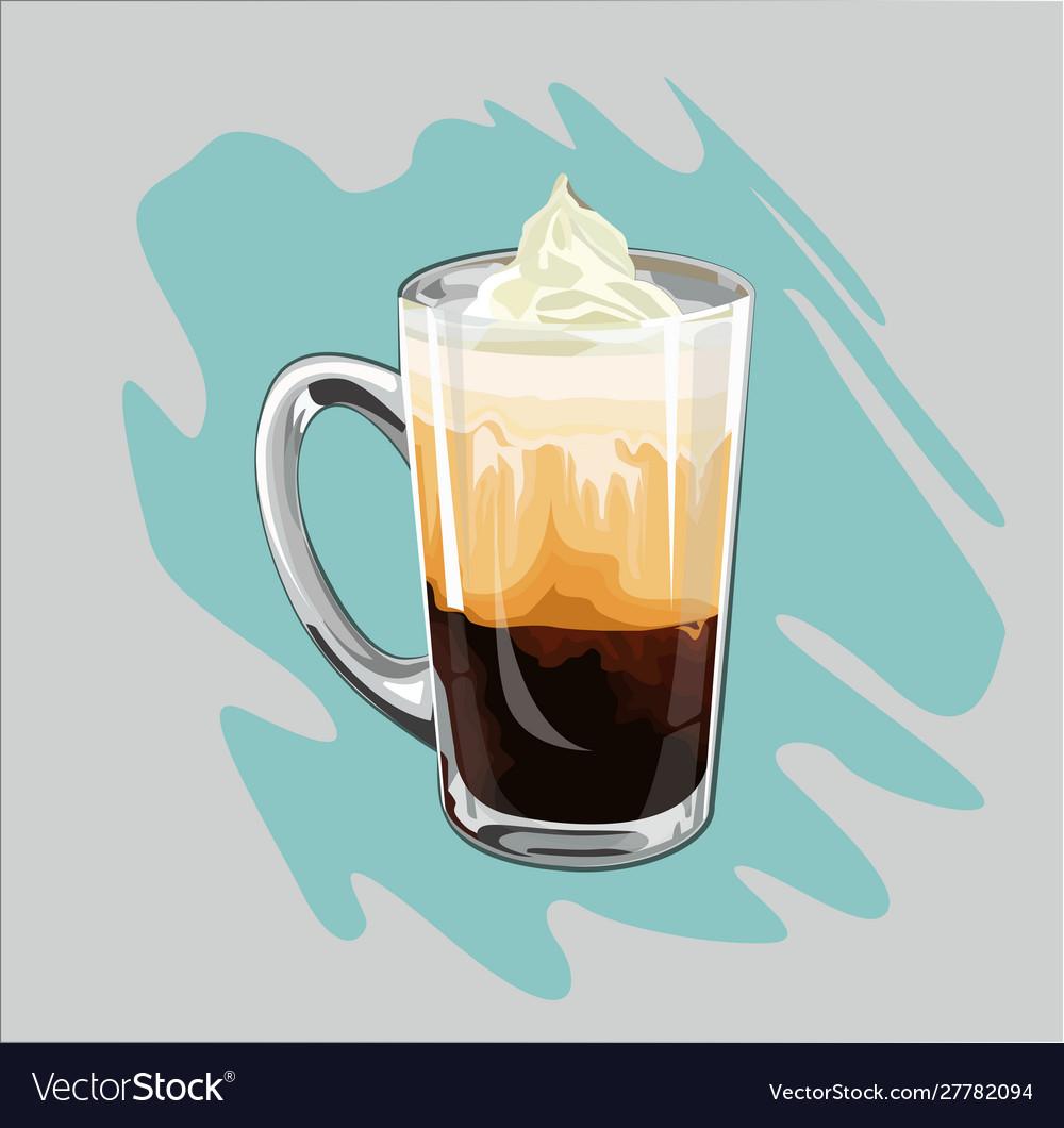 Delicious coffee with a creamy cap