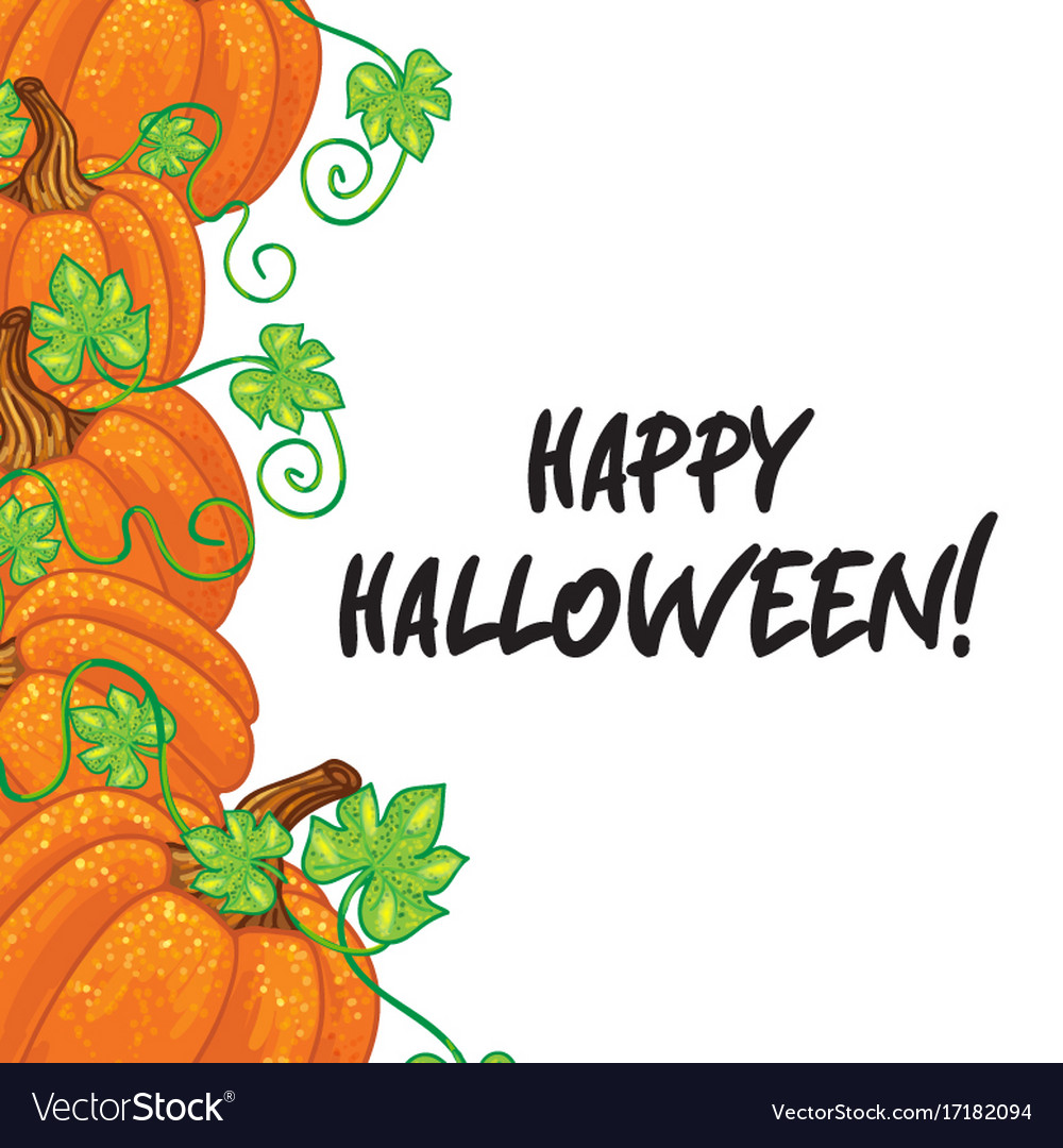 Halloween background frame