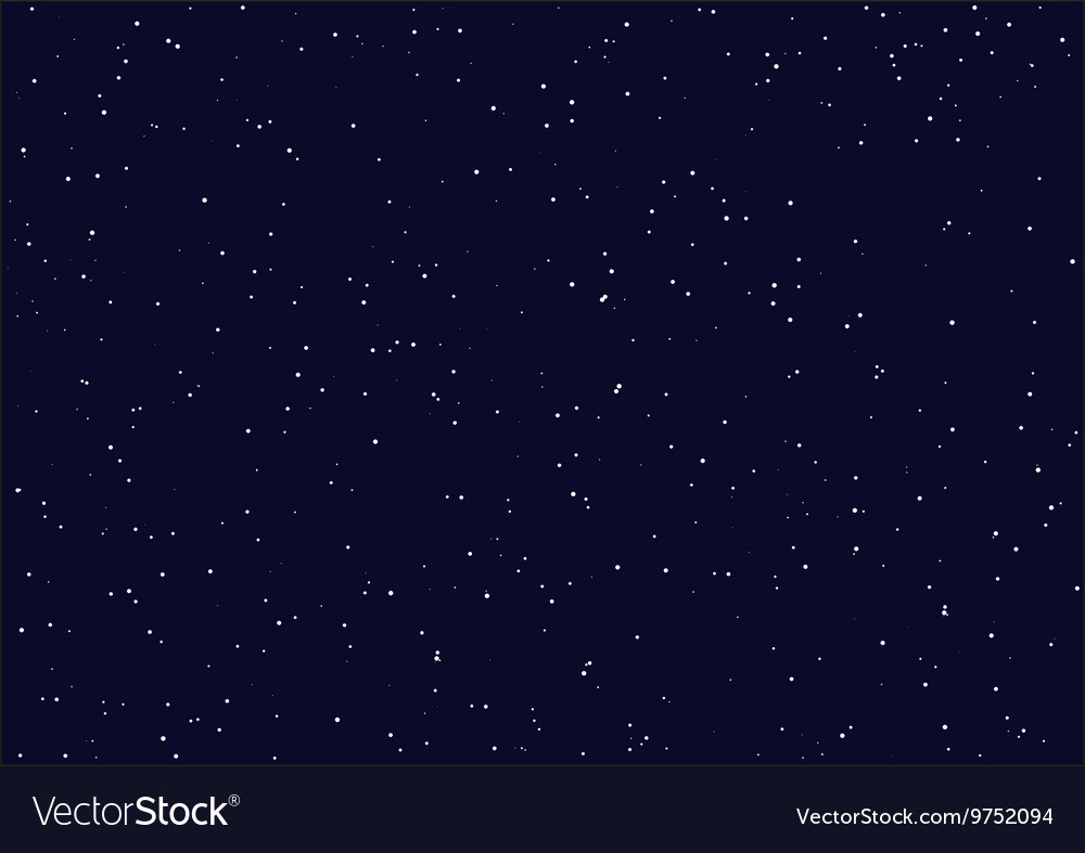 Night starry sky Seamless background vector image