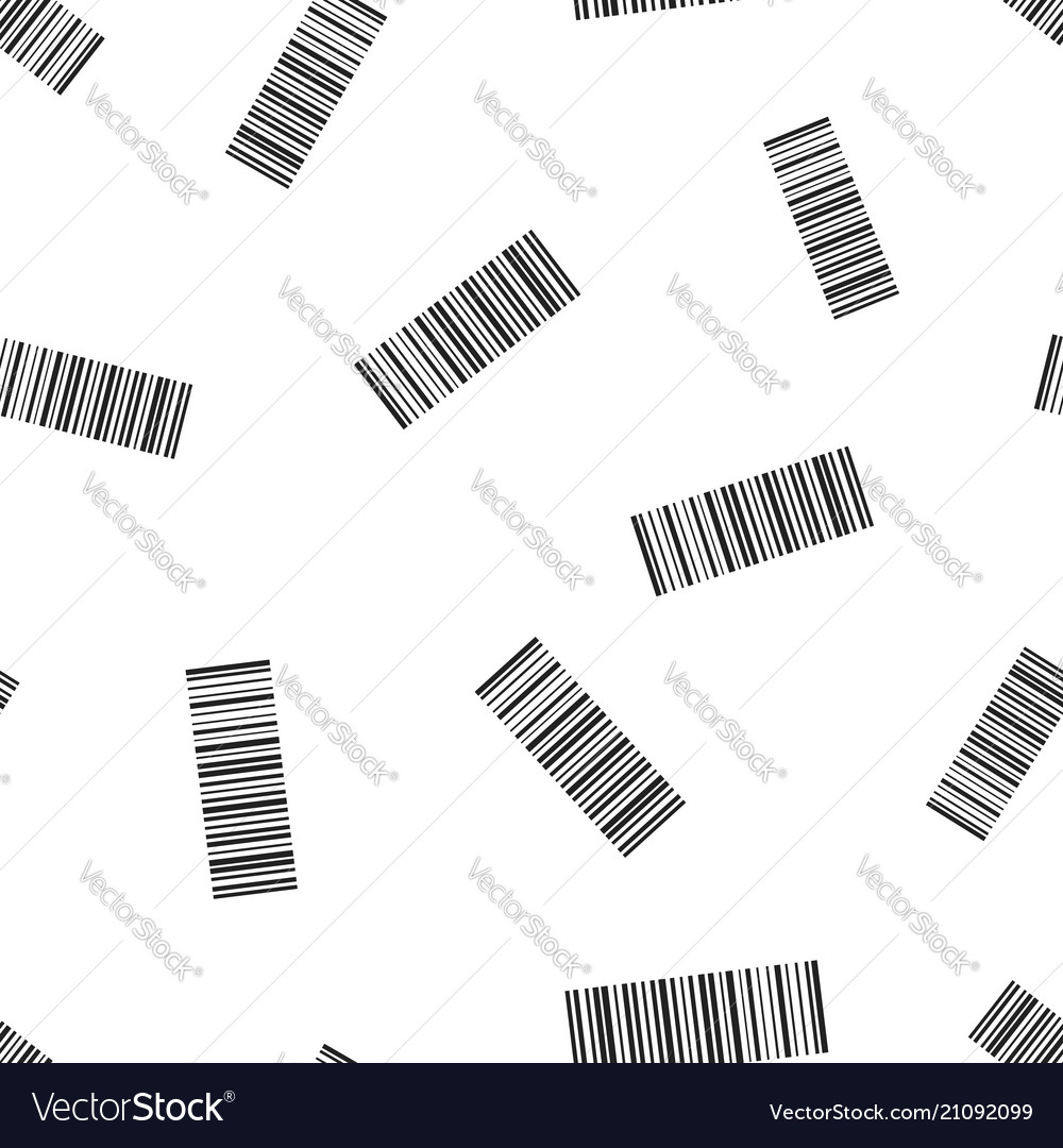 Barcode product distribution icon seamless