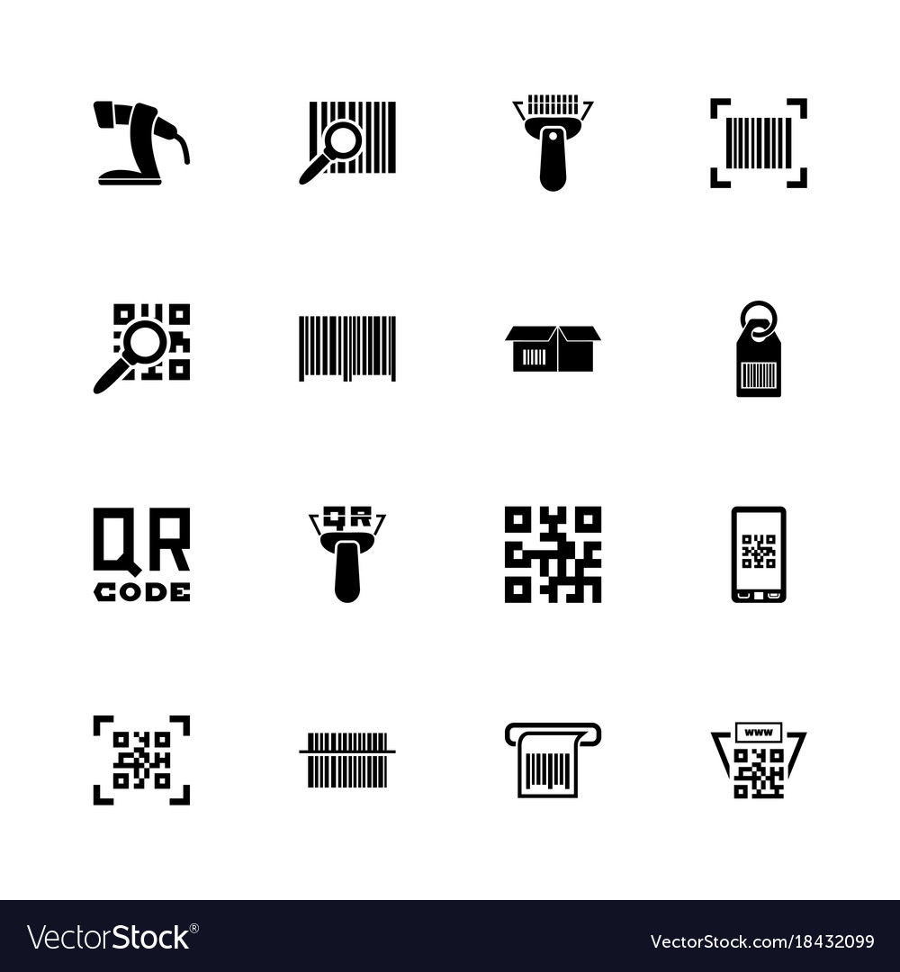 Check Code Flat Icons Royalty Free Vector Image