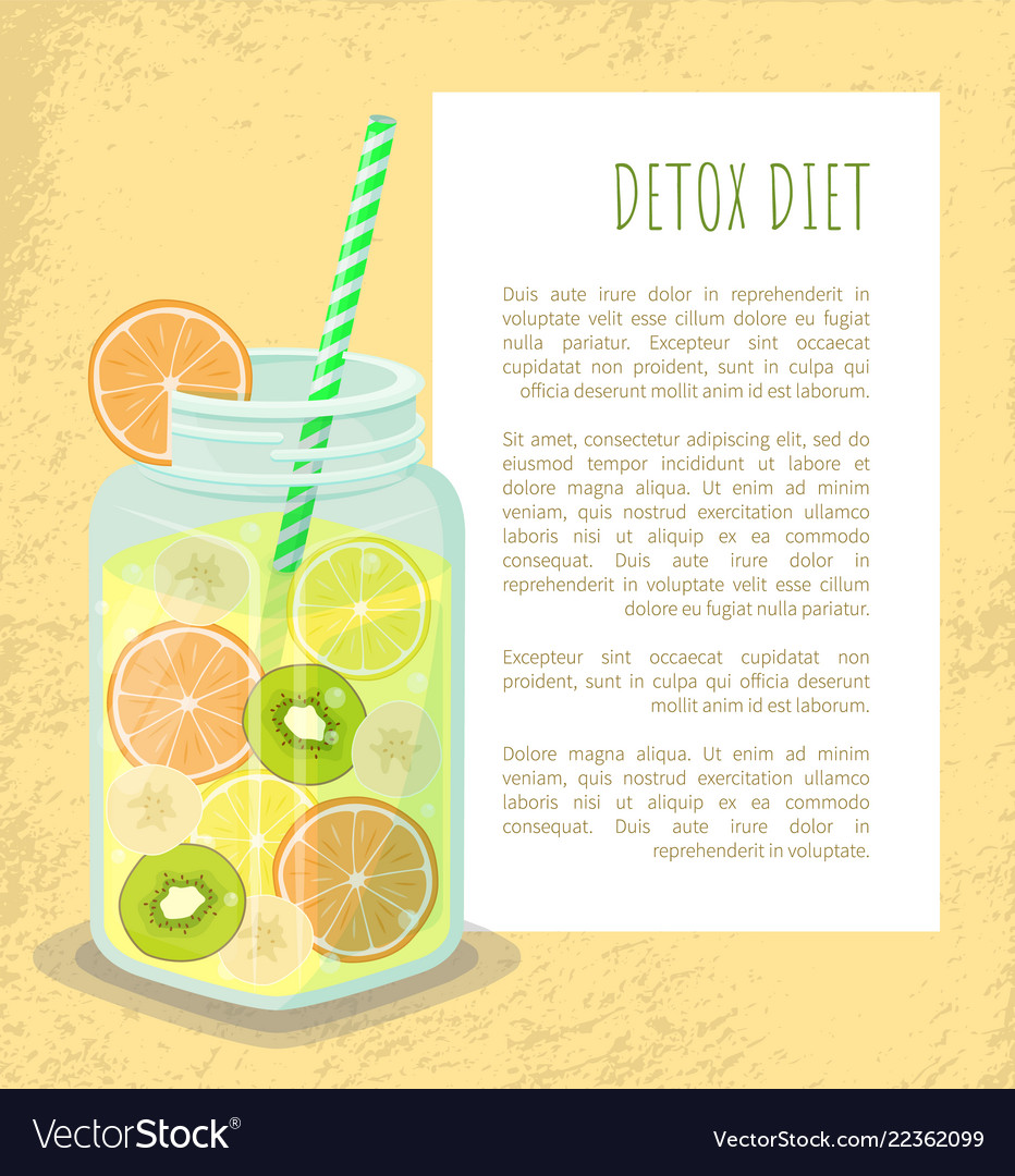 Detox diet poster mug with refreshing drink