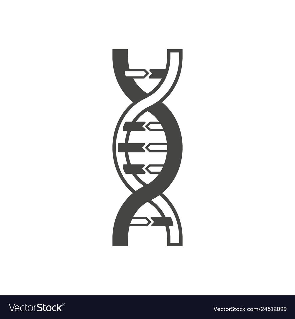 Dna helix symbol logo or tattoo concept