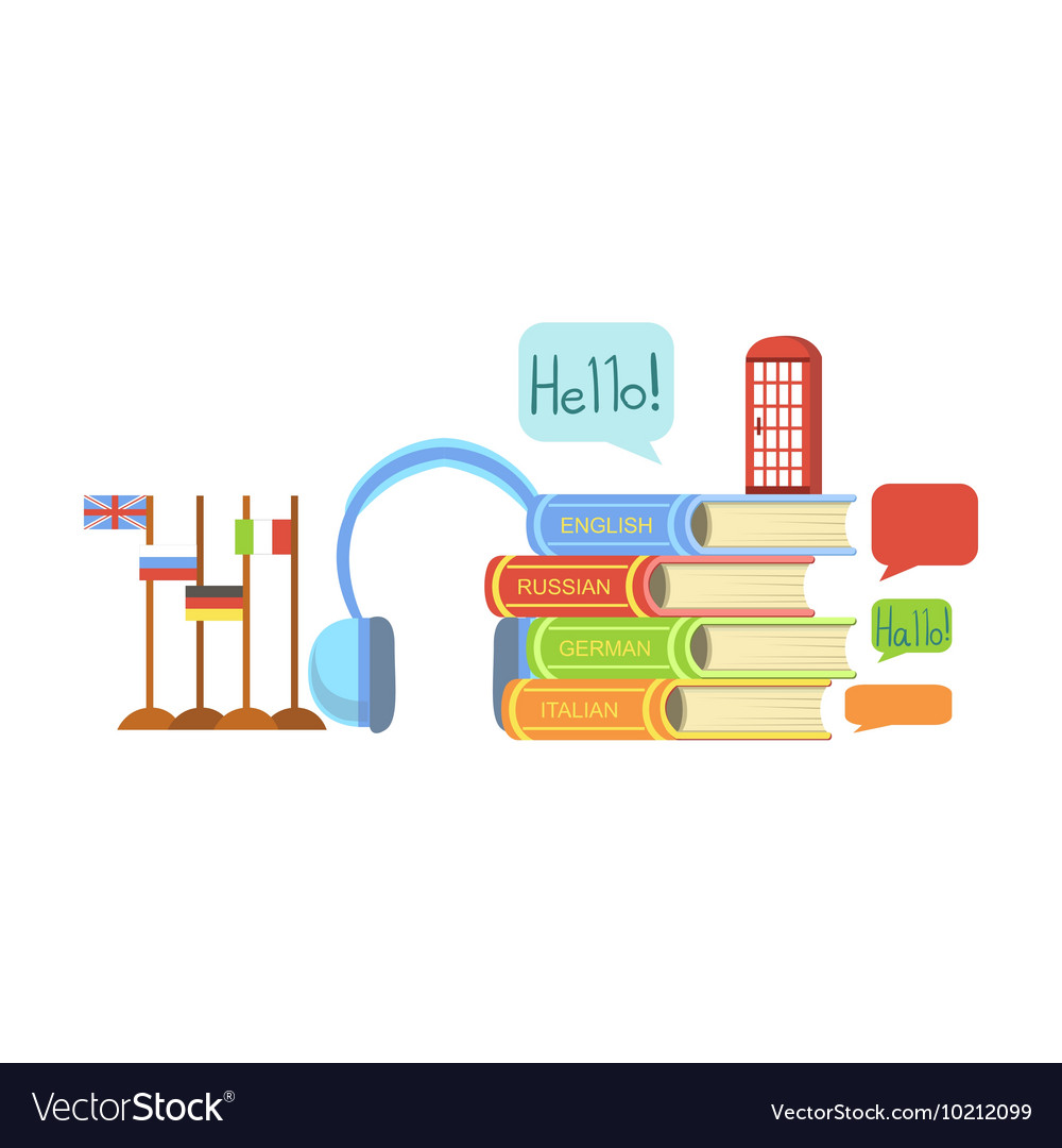 Foreign Languages Class Set Of Objects Royalty Free Vector Basic Schematic A Classh Configuration Image