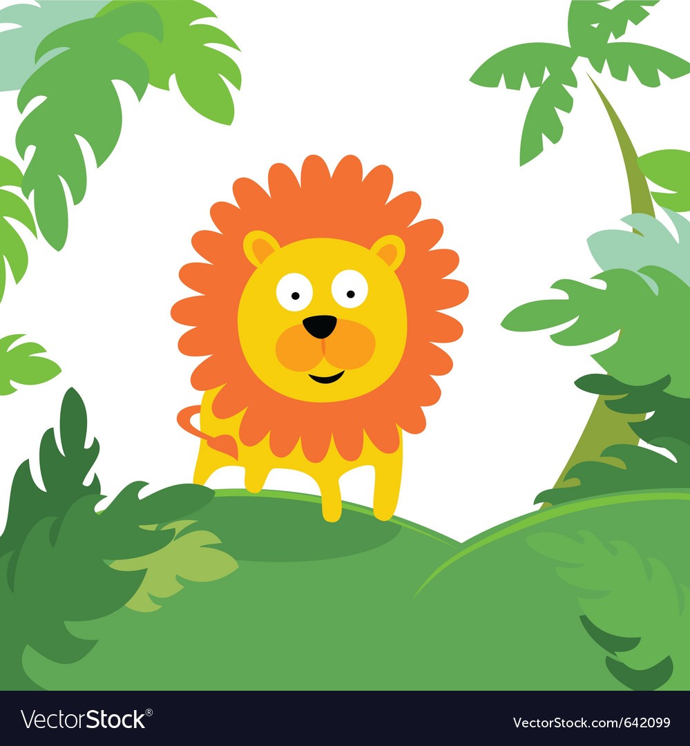 Lion in forest