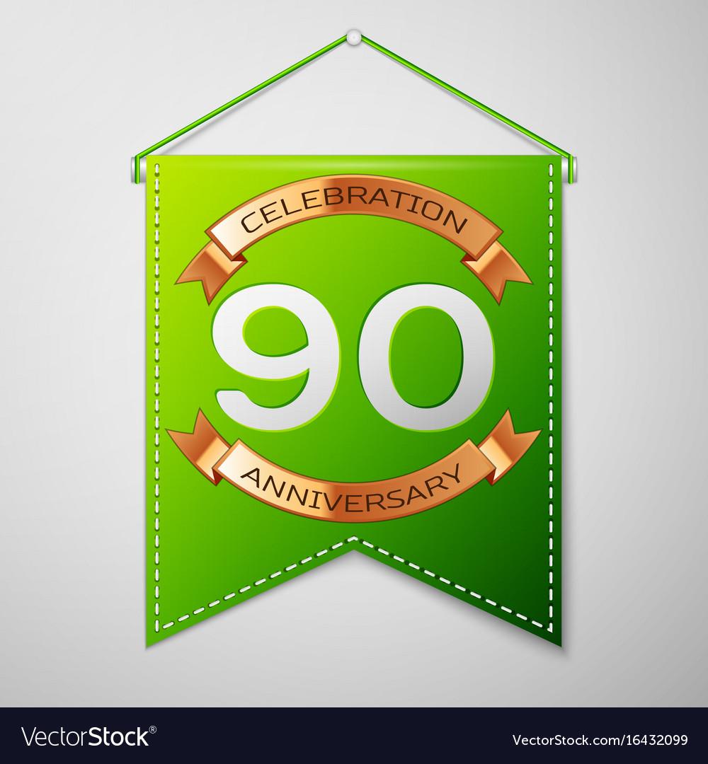 Ninety years anniversary celebration design