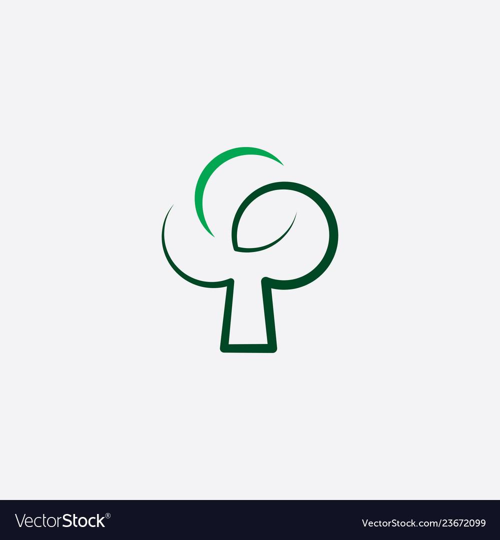 Stylized green tree icon