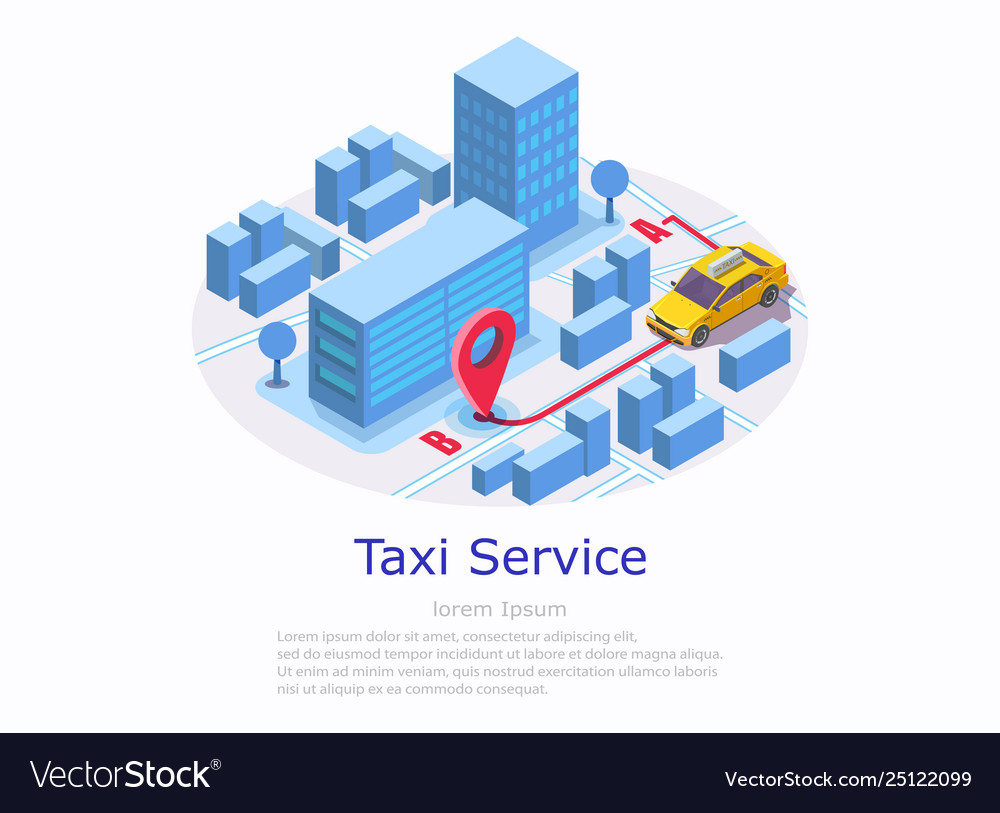 Taxi service web site banner template