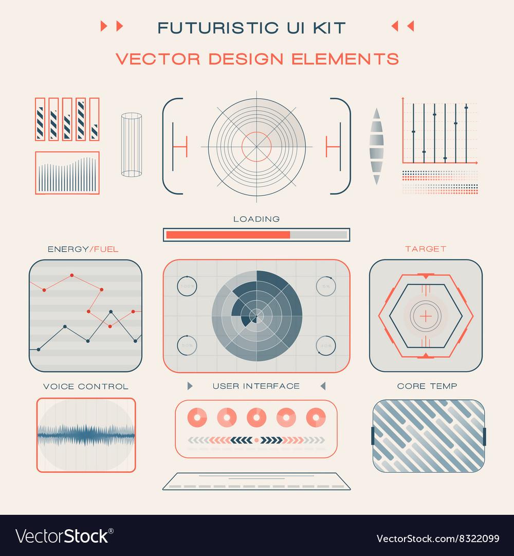 UI flat design web elements template set interface