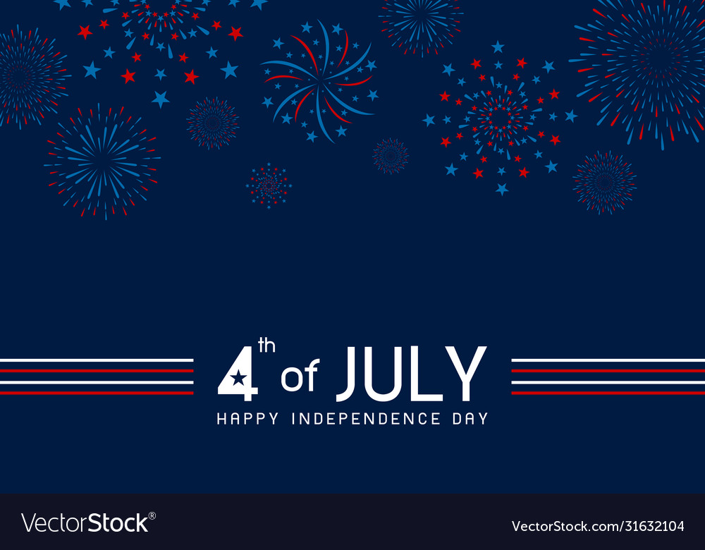 4th july happy independence day design of