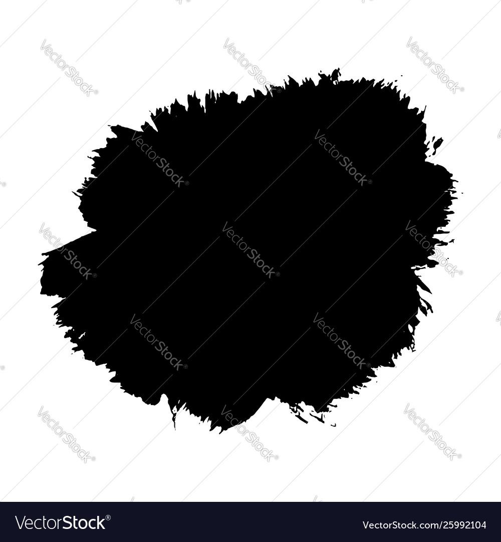 Brush stroke isolated white background black