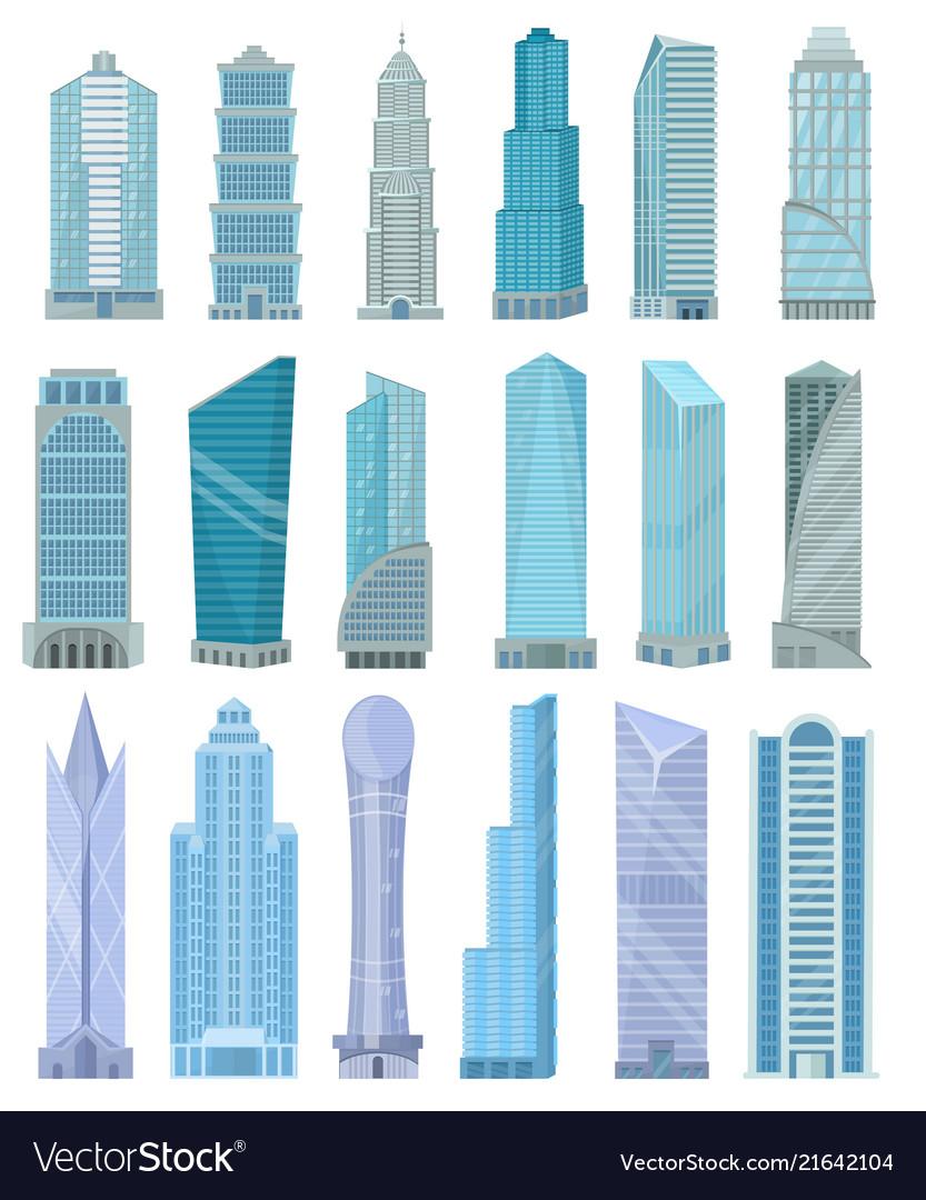 Building skyscraper in cityscape city