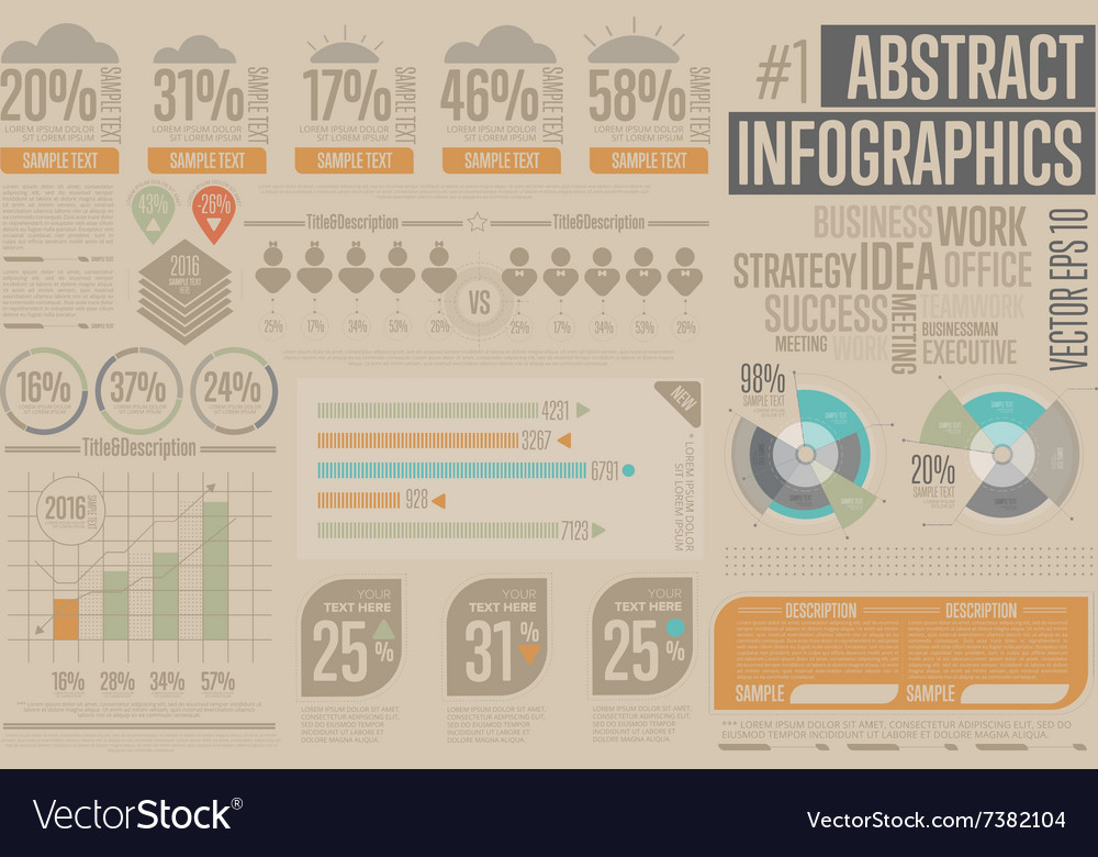 Business Infographic elements Graph icon