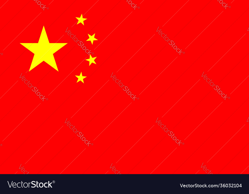 China flag icon chinese nation red flag