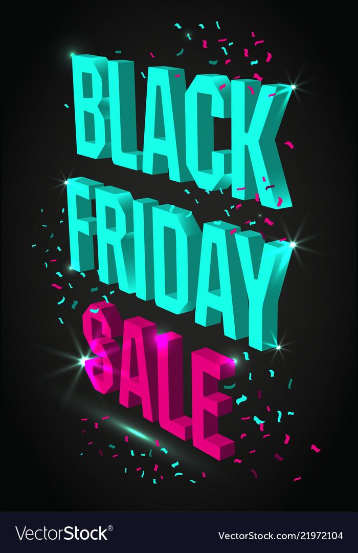 Dark banner for black friday sale modern neon