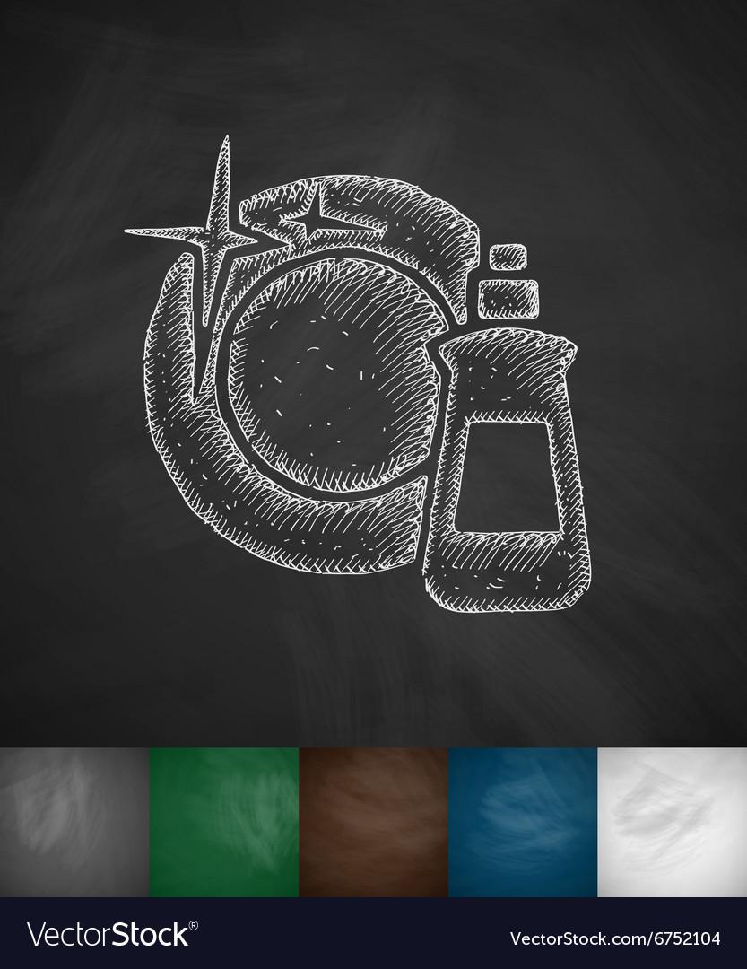 Dishwashing liquid icon vector image