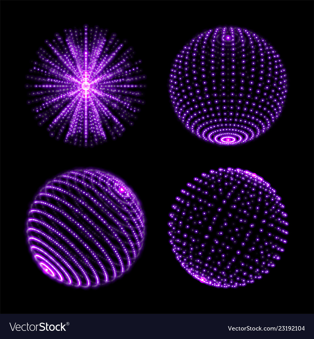 Light Sphere Ball With Dot Connection Neon