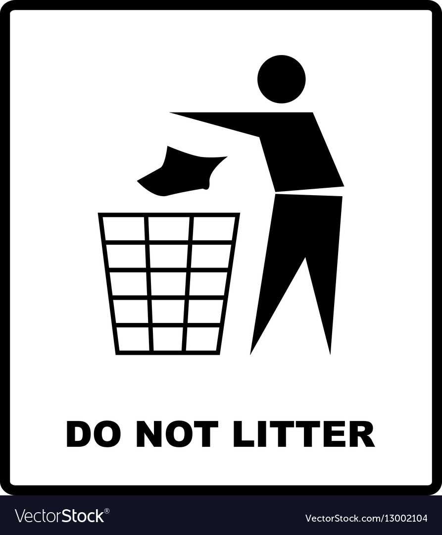 No Littering Sign Do Not Royalty Free Vector Image