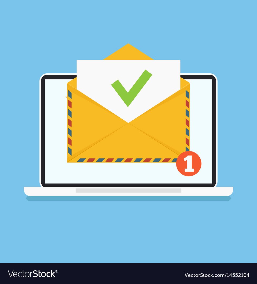 Open envelop with reject red word email