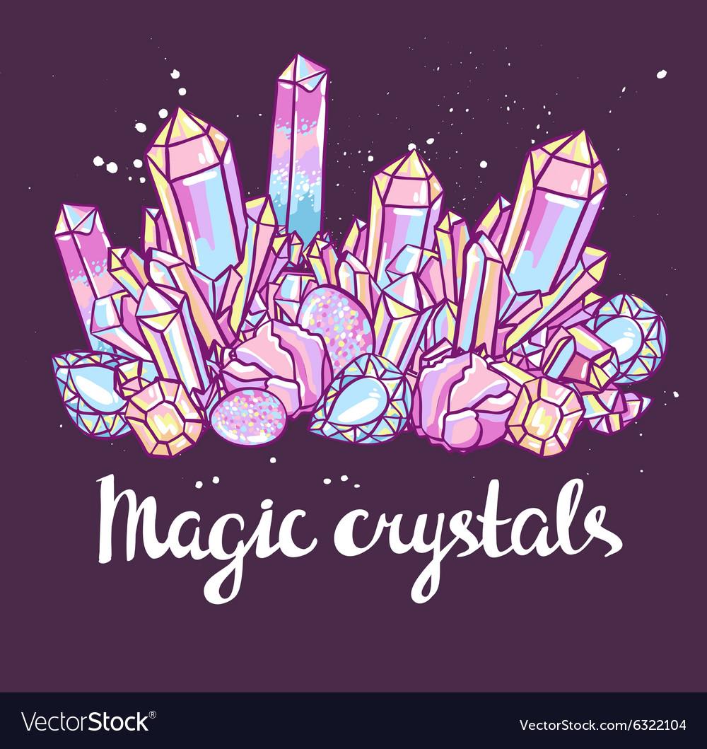 Poster - Magic crystals Bright