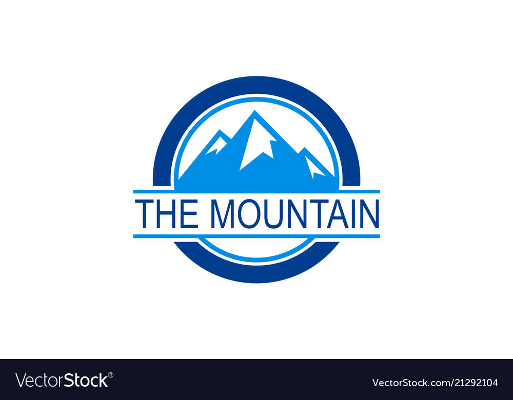 Round mountain logo