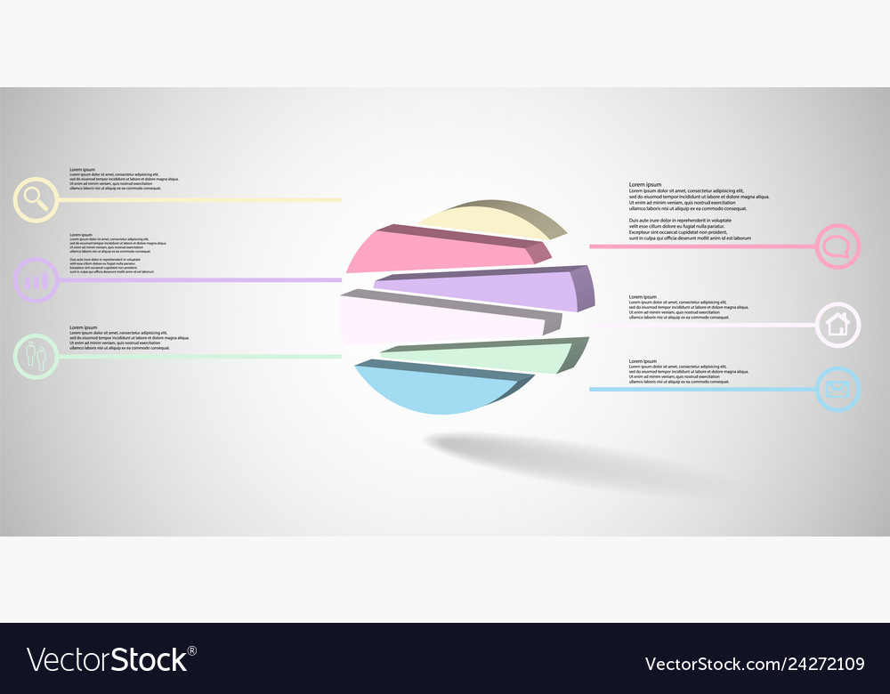3d infographic template with embossed circle