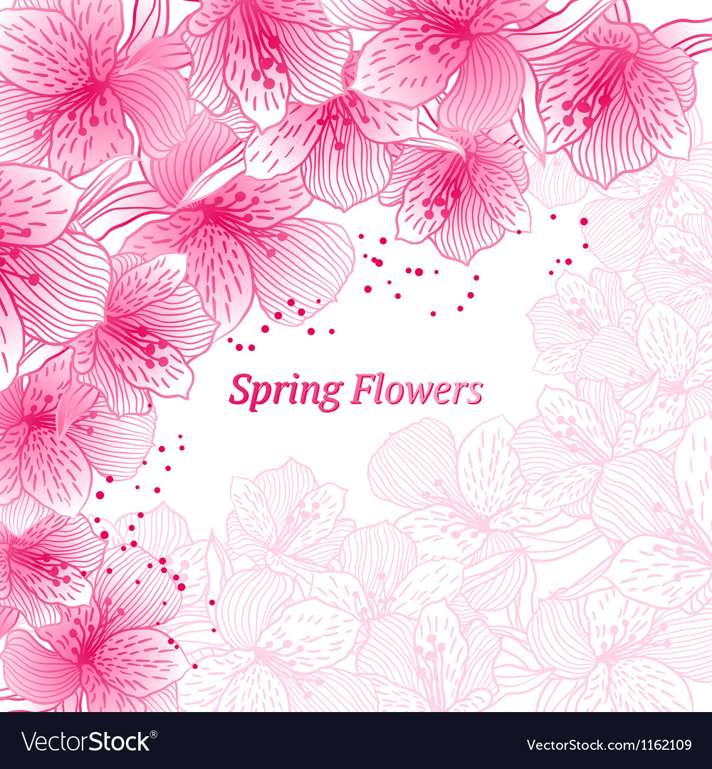 Abstract gradient seamless flower background with