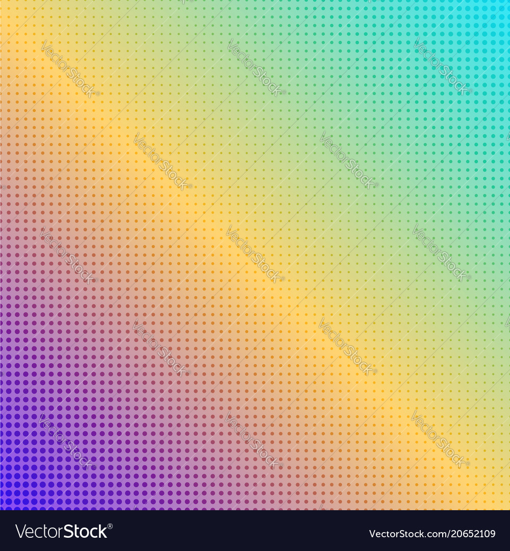 Abstract square rainbow dotted background
