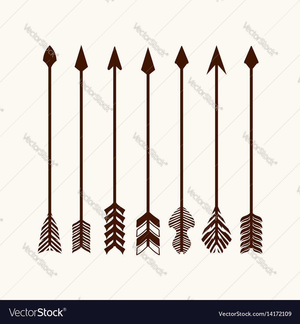 Arrows set for logo
