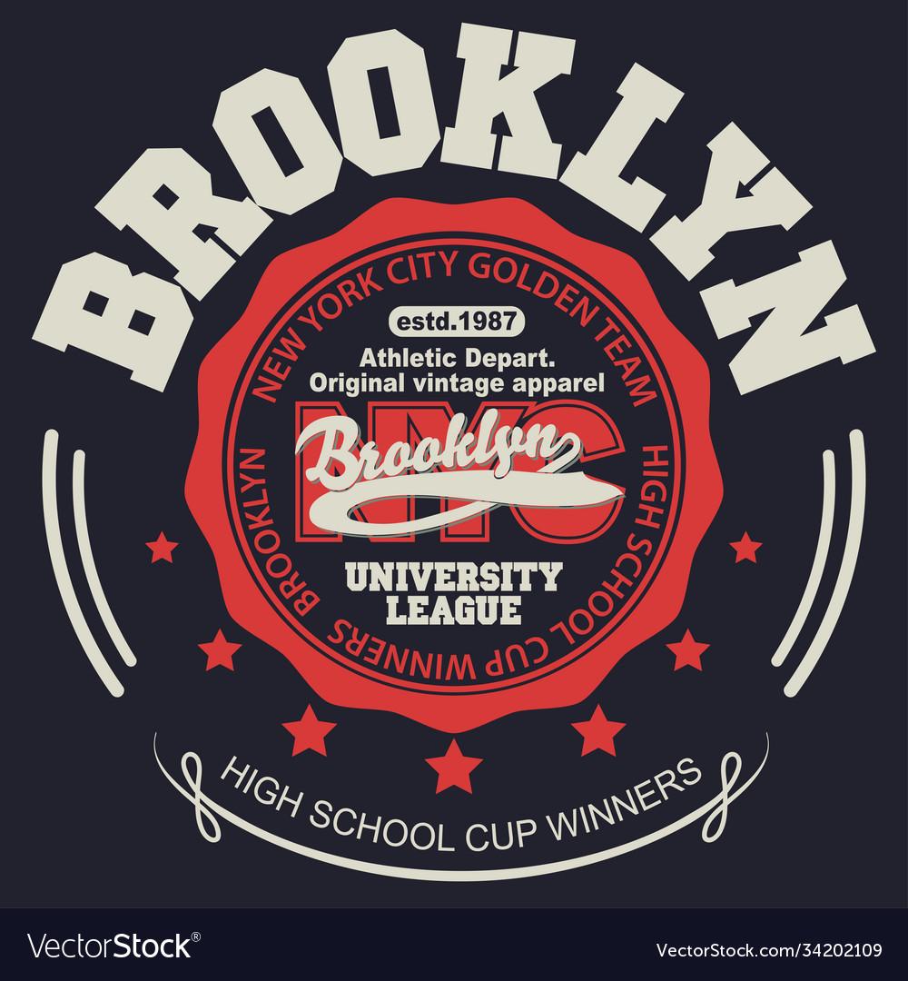 Brooklyn t-shirt graphics new york athletic