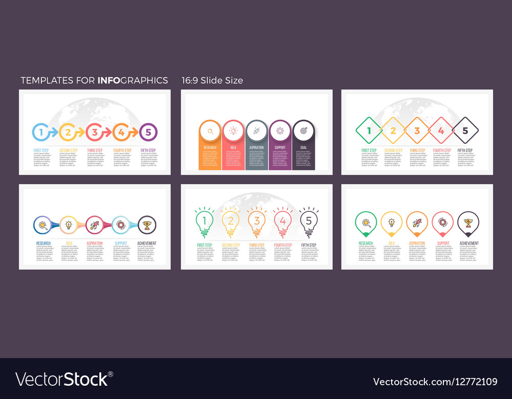 Business infographics Presentation templates with