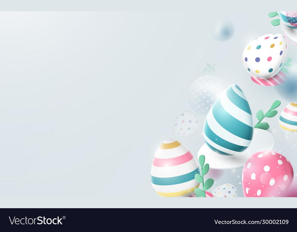 Composition 3d easter eggs