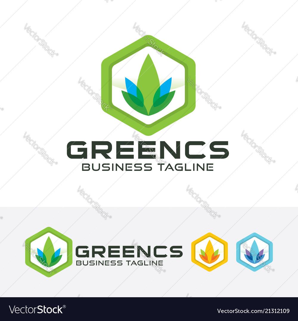 Green consult logo design