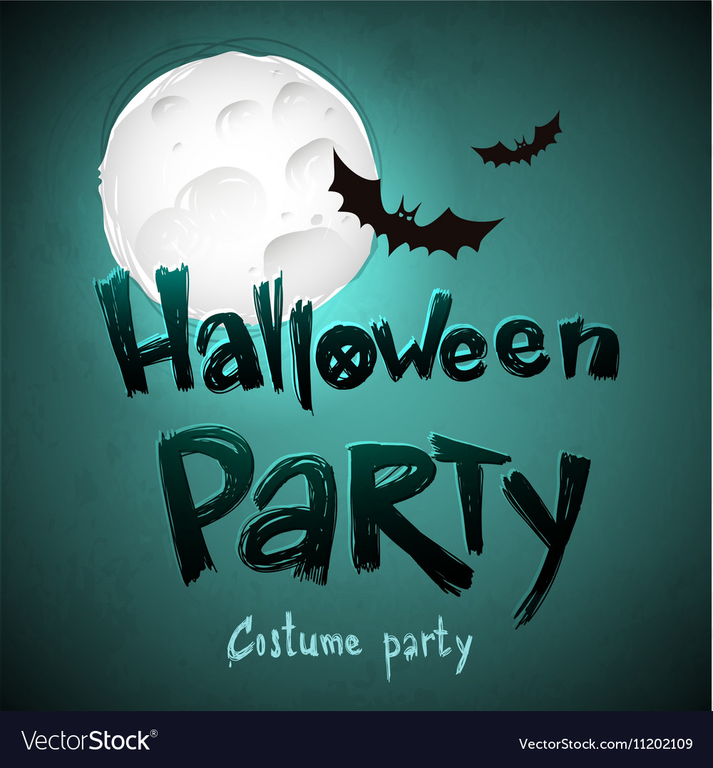 Halloween Party message design background vector image