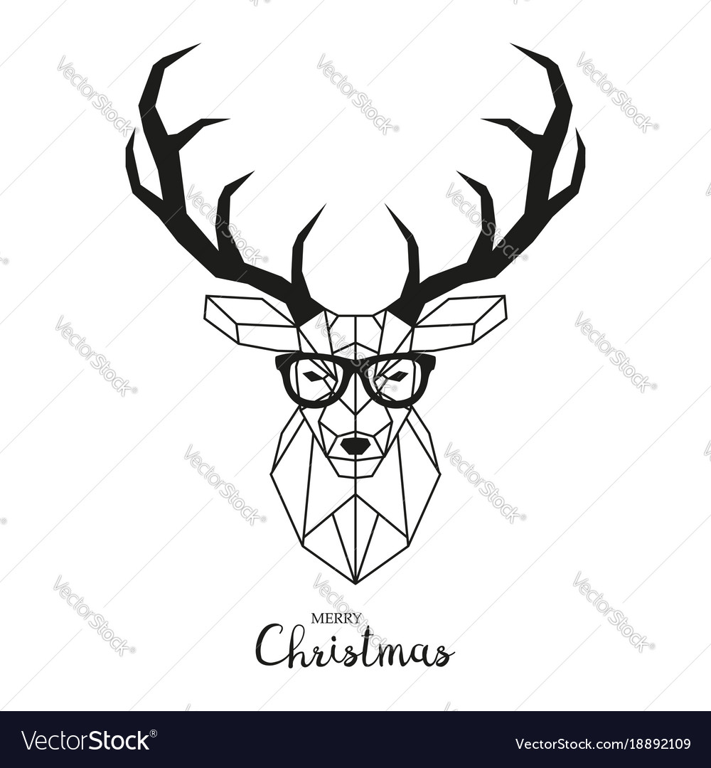 Hipster deer with glasses