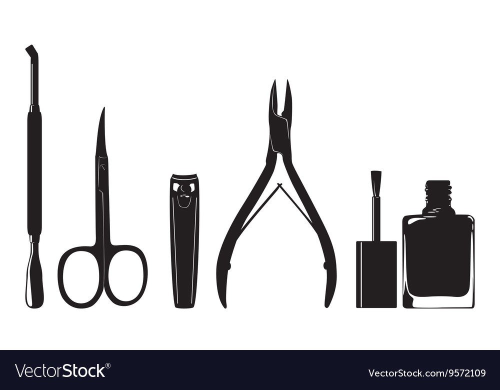 Manicure nail clippers Royalty Free Vector Image