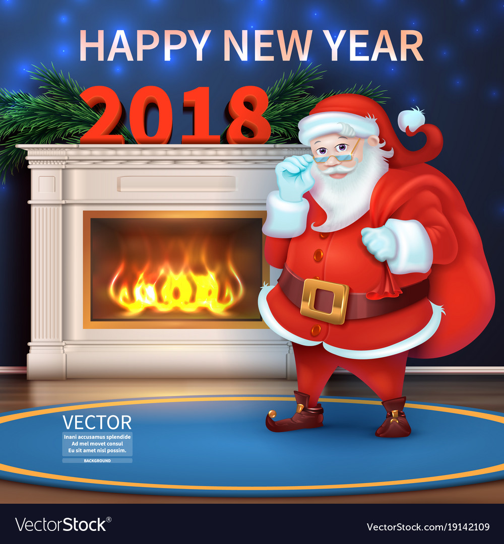Merry christmas and happy new year 2018 realisti