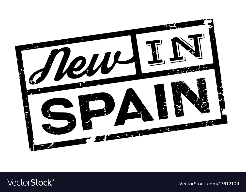 New in spain rubber stamp