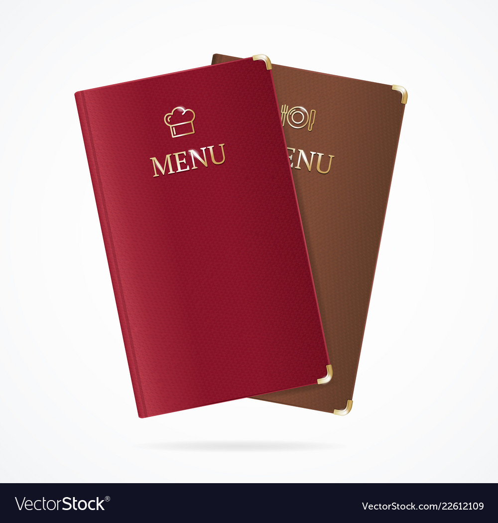 Realistic detailed 3d red and brown menu