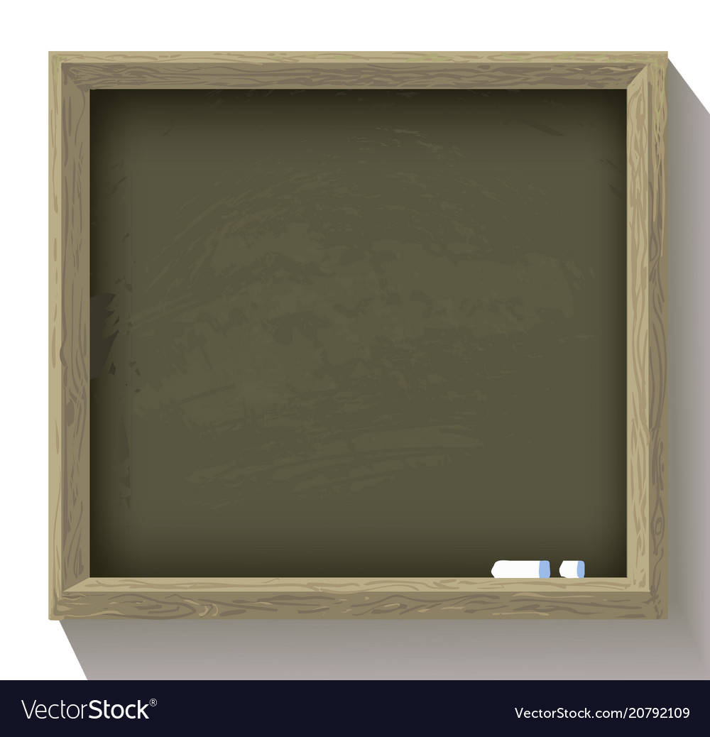 School blackboard with pieces of chalk