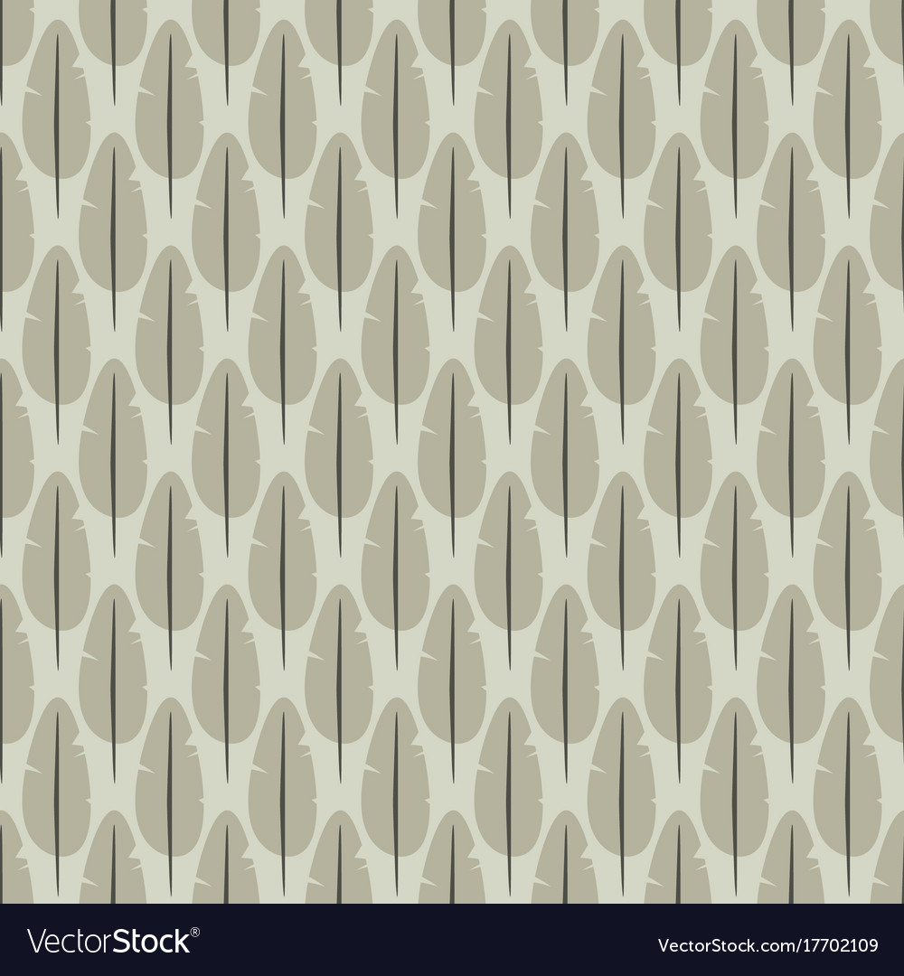 Seamless pattern with stylized feathers