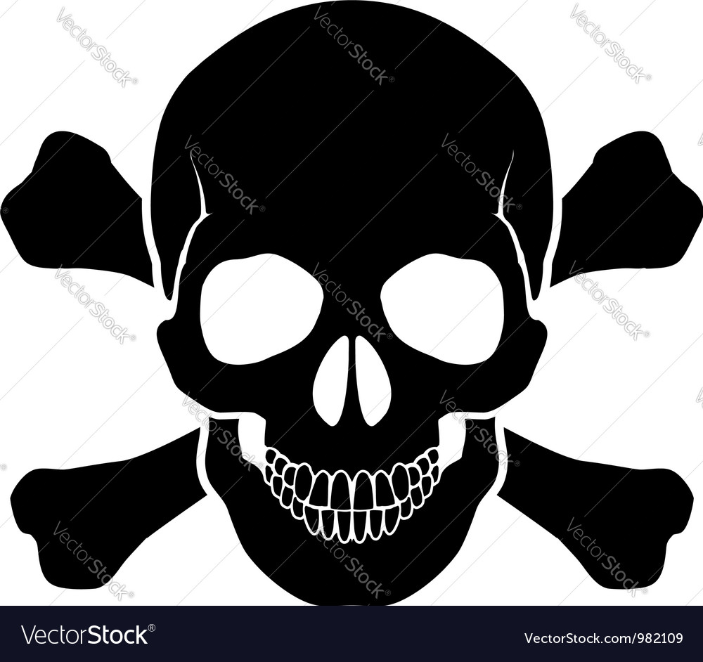 skull and bones royalty free vector image vectorstock rh vectorstock com skull and crossbones vector image skull and crossbones vector image